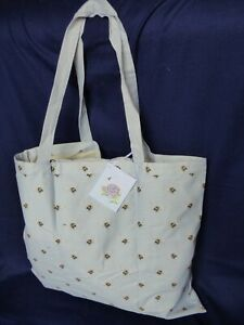 """Wrendale Foldable Shopping Bag """" BEE AND HYDRANGEA"""" by Hannah Dale"""