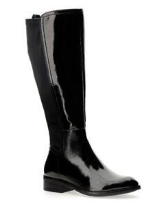 JD Williams Dixie Black Stretch Wide E Fit Extra Curvy Plus Calf  - UK Size 4