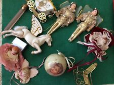 Vintage*Christmas Ornaments*Lot of 10*Victorian inspired*