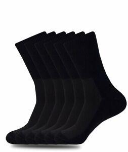 6 PACK DIABETIC SOCKS BLACK