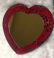 GLAM Red Mosaic Heart Wall Mirror Love Valentine Pop Art