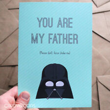 Funny Fathers Day Card for Dad, You are my Father, Star Wars, Darth Vader