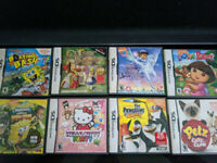 Nintendo DS Lot Pack (Spongebob, Dora, The Penguins of Madagascar, Pets)