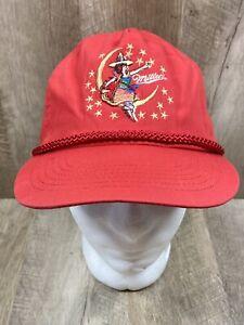 Rare Vintage Miller High Life Strapback Adjustable Hat Cap Lady Sitting on Moon