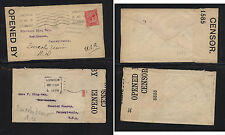 Great Britain 2 Ww1 censor covers Ms0531