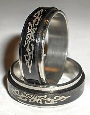 Butterfly Spinner Ring - Stainless Steel Size 7, 8, 9, 10, 11