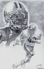 San Francisco 49ers Ronnie Lott Art Sketch Poster