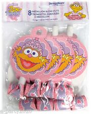 ZOE BALLERINA BLOWOUTS (8) ~ Birthday Party Supplies Sesame Street Favors Pink