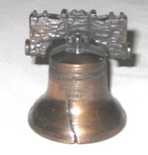 "Liberty Bell Metal 2.5"" Copper Souvenir Collectable"