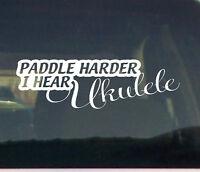 Paddle Girl Sticker Vinyl Decal Gets Me Wet Cute SUP Kayak Car Pick Size V454
