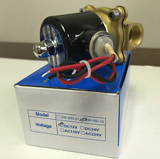"NEW 1/2"" inch Electric Solenoid Valve DC 12V-Water-Air-Gas-Air Suspension-NC"