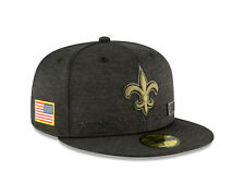 New Orleans Saints Cap NFL Football New Era 59fifty Salute To Service 2020 7 5/8