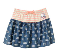 HELLO KITTY Girls' Stripe and Bow Printed Chambray Skirt ($10.97) xs/sch (4/5)