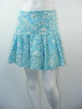 """LILLY PULITZER Blue & White LINED Tiered Above Knee Skirt, Sz 4 - W29"""" x L16"""""""