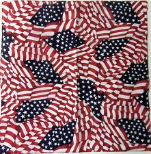 Stars & Stripes Bandana 100% Cotton Scarf Wrap Bandanna USA America US Flag