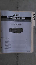 JVC ks-a200 service manual original repair book stereo power amp amplifier