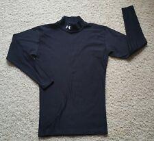 Men's Under Armour Coldgear Long Sleeve Base Layer Fitted Mock Shirt SZ L Black