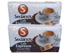 2x Cafe Sedano's Espresso Ground Coffee 10 oz 284 g
