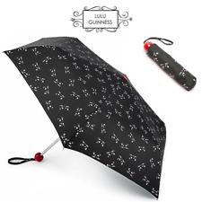 Lulu Guinness Kooky Cat Minilite Folding Umbrella Compact Handbag Size