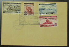 1944 Poland Cover Free Government in Exile # 3K17-3K20 Monte Cassino