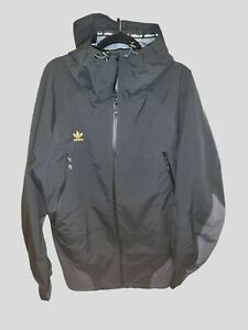 Adidas 3 Layer 20k Snowboard Jacket Black/Utility Black/Signal Orange FJ7502 SzL