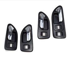 Set 4 Left Right Interior Inside Door Black handle for Honda Accord 5 94-97