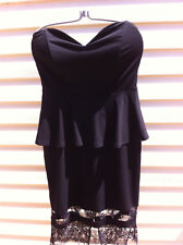 CITY CHIC BLACK STRAPLESS LINED FITTED LACE DRESS SIZE: XS BNWD RRP:$169.95