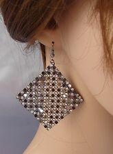 ELEGANTE Orecchini strass cristalli Nero,rombo,cerimonia Moda donna,idea regalo