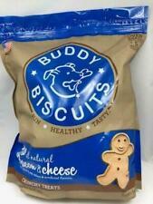 Buddy Natural Biscuits Bacon & Cheese Formula Dog Crunchy Treats 3.5 Lbs USA