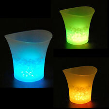 5L LED Ice Bucket Color with Light Change Flashing Cool Bars Night Party #7