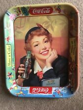 VTG 1950s COCA-COLA Adversting Tray  Girl THIRST KNOWS NO SEASONS Mint