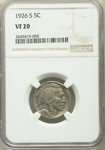 1926-S Buffalo Nickel NGC VF-20