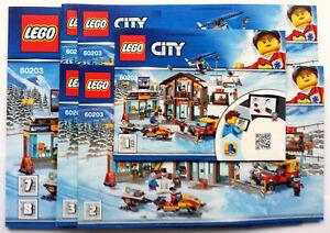 Lego® Bauanleitung für Town Ski Resort 60203 Neu