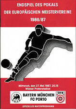EC I - Finale 86/87 FC Bayern München - FC Porto, 27.05.1987 in Wien