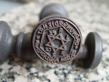 """Segunda Guerra Mundial Alemania Sello sello de tinta """"Jude CZ"""" firmado para la e"""