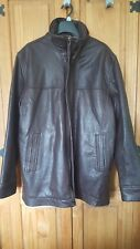 Gents brown leather jacket