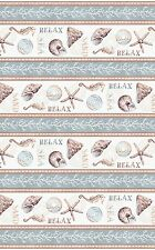 Sand & Sea - Multi Repeating Beach Stripe Cotton Fabric Yardage              B3