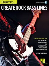 How to Create Rock Bass Lines - Bass Instruction Book Audio Online NEW 000151784