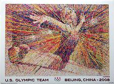 "Hopper - Beijing 2008 Olympic Poster - GYMNASTICS - 18"" X 13"" - USA - WOMEN"