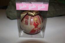 1997 Matrix Barbie Christmas Ornament Red&Pink Dress w/White Flowers &White Tree