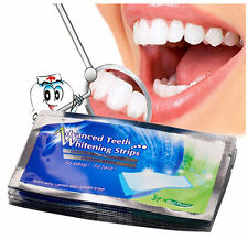 14Pcs/7Pair 3D White Gel Teeth Whitening Strips Oral Hygiene 360 Degree Care PF