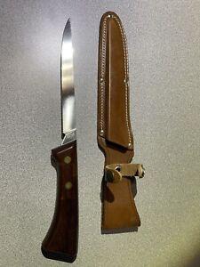 Vintage Western Fillet Knife W766 Letter F With Sheath New