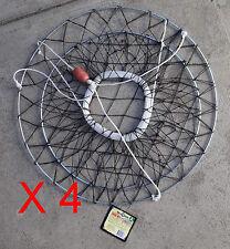 Crab Net - 2 Ring - ( x 4 Nets)