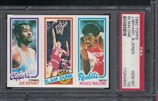 1980 Topps Moses Malone Joe Bryant Bobby Jones PSA 10 Set Break   *
