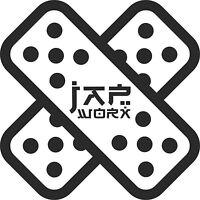JAPWORX DRIFT PLASTER VINYL CAR STICKER jdm decal drift logo jap worx car club