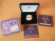 More details for 2000 silver centenary proof crown £5 coin the queen mothers  cased with coa.
