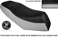 BLACK & LIGHT GREY VINYL CUSTOM FITS LEXMOTO GLADIATOR 125 DUAL SEAT COVER ONLY
