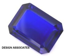 MAN MADE TANZANITE 20 x 15 MM EMERALD CUT BEAUTIFUL BLUE COLOR