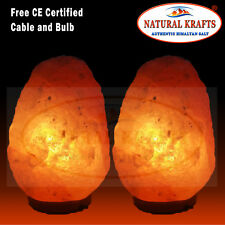 4x 5-7 KG Himalyan Rock Salt Lamps Therapeutic Air Ionizer Lamps Christmas Gifts