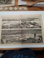 Ohio & Kentucky Flood-1883 Harper's Weekly Original Woodblock Print